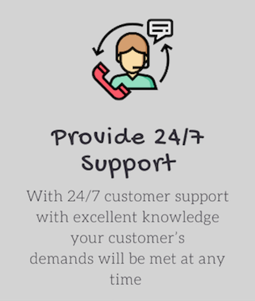 provide 24/7 support